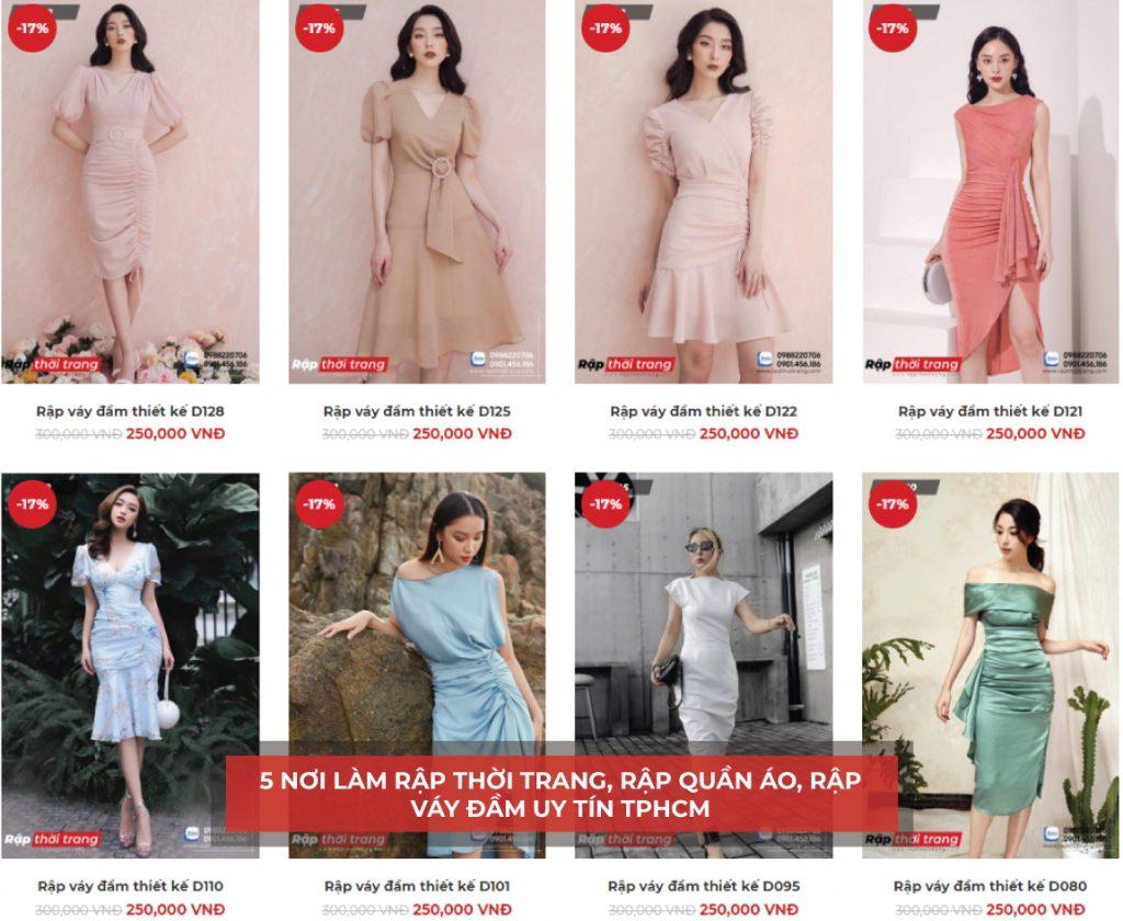 Rapthoitrang.com cung cấp mẫu rập có sẵn váy đầm thiết kế