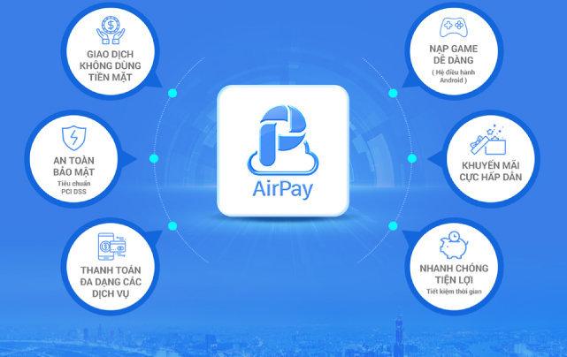Các tính năng của ví điện tử Airpay?