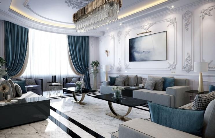 Không gian nội thất phong cách tân cổ điển