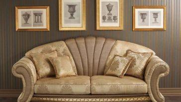 Sofa tân cổ điển với nhiều hoạ tiết